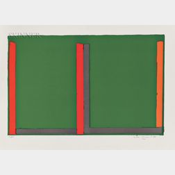 John Hoyland (British, 1934-2011)      Large Green Swiss