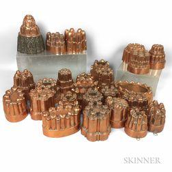 Twenty-five Copper Food Molds.     Estimate $300-500