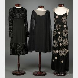 Two Vintage Galanos Gowns and a Vintage Beaded Dress