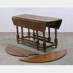 William & Mary Elmwood Drop-leaf Gate-leg Table