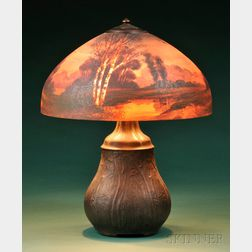 Handel Reverse-painted Table Lamp