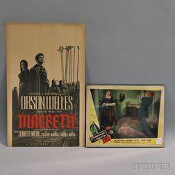 Two Vintage 1940s Film Advertisements