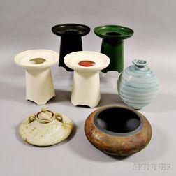 Seven Pottery Vessels