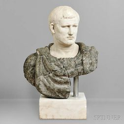 Classical-style Marble Bust of a Roman Emperor