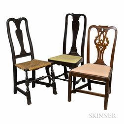 Three Early Side Chairs