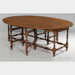 Benchmade William and Mary-style Oval-top Dining Table