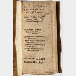 Estienne, Henri (1531-1598) Comicorum Graecorum Sententiae.