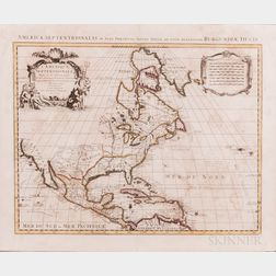 North America, Canada, Central America. Guillaume de L'Isle (1675-1726) L'Amerique Septentrionale.