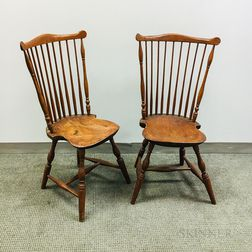 Pair of Fan-back Windsor Side Chairs