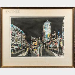 Albert Alcalay (American, 1917-2008)      Wonderland of Time Square
