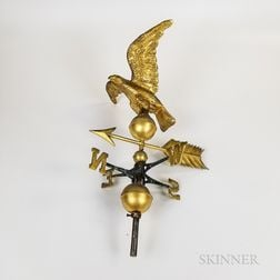 Small Molded Copper Spreadwing Eagle Weathervane and Directionals