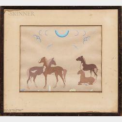 American School, 20th Century      Horses