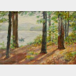 Mary Bacon Jones (American, 1868-1924)      Island Pond, Hampstead, New Hampshire