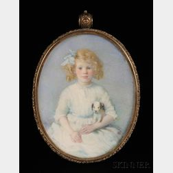 Laura Coombs Hills (American, 1859-1952)      Portrait Miniature of Mary Barbour of Newburyport, Massachusetts.