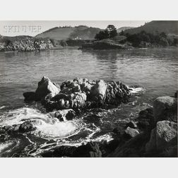 Ansel Adams (American, 1902-1984)      Rocks and Swirling Water