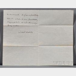 Webster, Daniel (1782-1852) Autograph Letter Signed, 24 April 1845.