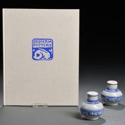 Dedham Pottery Rabbit Salt and Pepper Shakers and Dedham Pottery Book