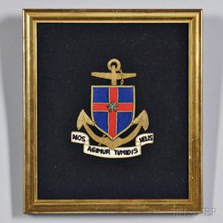 Embroidered and Gilt New York Yacht Club Crest