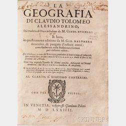 Ptolemy, Claudius (c. AD 100-c. 170) La Geografia.