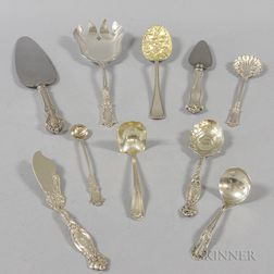 Group of Silver-plated Flatware