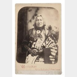 "Framed ""Washakie, Chief of the Shoshone"" Cabinet Card"