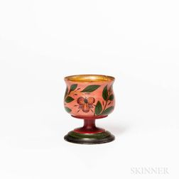 Polychrome Painted Lehnware Cup