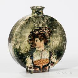 Albert Robert Valentien Portrait Vase