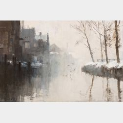 Edward Seago (British, 1910-1974)      December Morning, Norwich