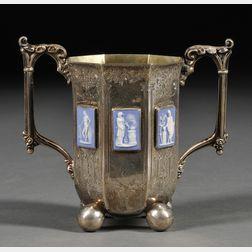 Wedgwood Jasper-mounted Silver Presentation Cup