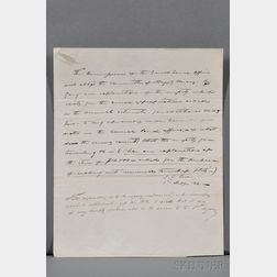 Polk, James K. (1795-1849) Autograph Letter Signed, 1 February 1834.