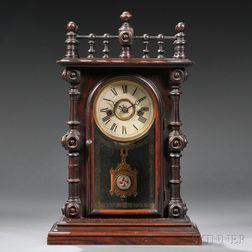 Welch Gerster V.P. Rosewood Shelf Clock