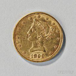 1899 Liberty Head Ten Dollar Gold Coin