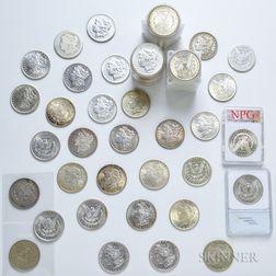 Eighty-eight Morgan Dollars and Five Peace Dollars