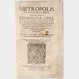 Hund, Wiguleus (1514-1588) Metropolis Salisburgensis.