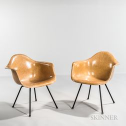 Pair of Early Ray and Charles Eames for Herman Miller Shell Chairs