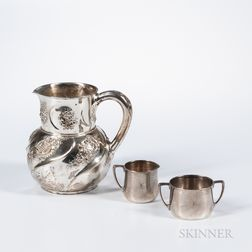 Three Pieces of Tiffany & Co. Sterling Silver Tableware