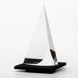Christopher Ries (American, b. 1952) Sail   Glass Sculpture