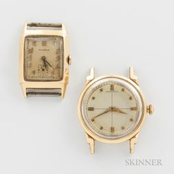 Two 14kt Gold American Wristwatches