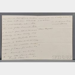 Van Buren, Martin (1782-1862) Autograph Letter Signed, London, 8 December 1831.