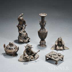 Six Bronze Items