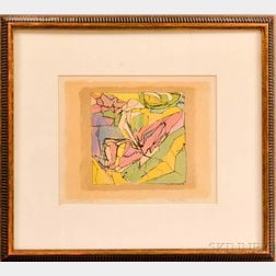 Jacques Villon (French, 1875-1963)      Abstraction in Colors.