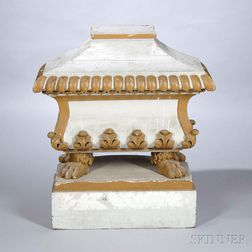 Neoclassical-style Painted Casket and Cover