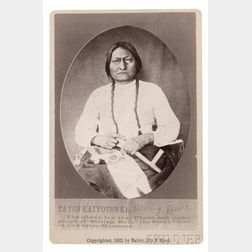 "Framed ""Sitting Bull"" Cabinet Card,   by Bailey, Dixon, and Mead"