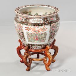 Large Famille Rose Bowl with Stand