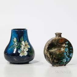 Two T.J. Wheatley Floral Vases