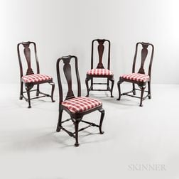 Set of Four Queen Anne Chairs