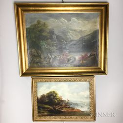 Two Framed Hudson River Valley School Scenes