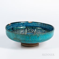 Cobalt and Turquoise-glazed Bowl