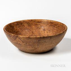 Large Turned Burl Bowl