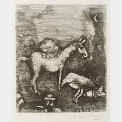 Marc Chagall (Russian/French, 1887-1985)  Plate from Jean De La Fontaine, FABLES